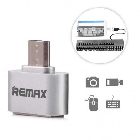 ADAPTER / HOST USB OTG REMAX srebrny