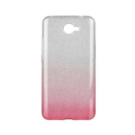 FUTERAŁ SHINING IPHONE 12 MINI (5,4) transparent-róż